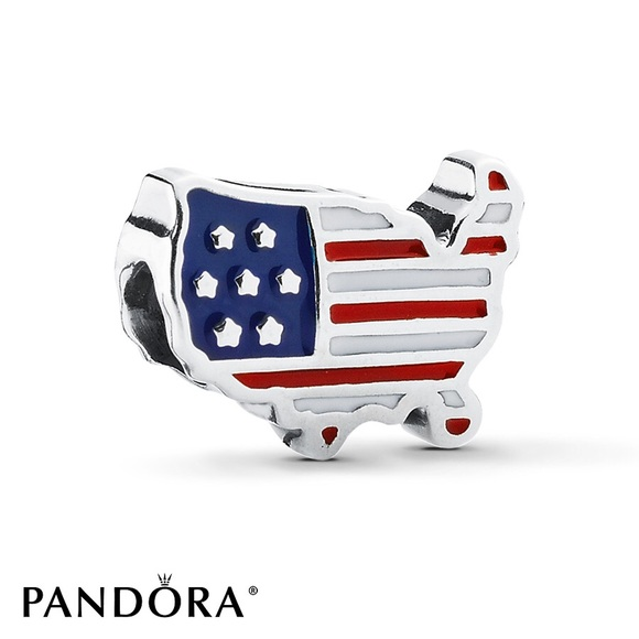 charm pandora flag